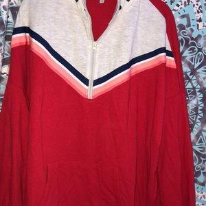Sweaters - NWT color block Half Zip Sweater